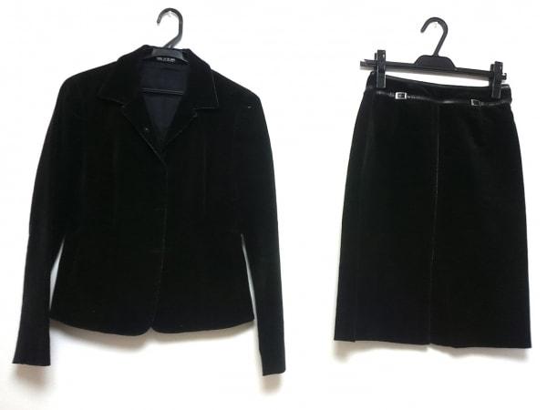 COMME CA DU MODE(コムサデモード) スカートスーツ レディース 黒 コーデュロイ