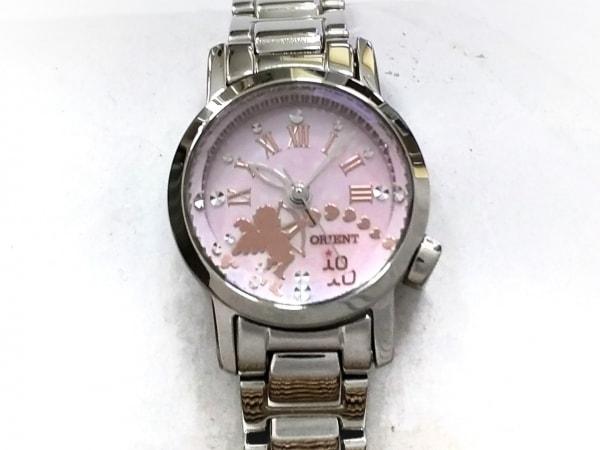 ORIENT(オリエント) 腕時計美品  UB8U-Q0-B レディース シェル文字盤 ピンク
