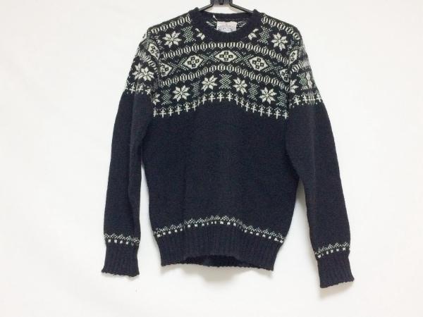 Jamieson's(ジャミーソンズ) 長袖セーター サイズ36 S メンズ美品  黒×アイボリー