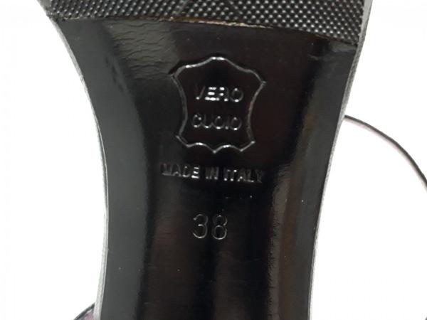 L'AUTRE CHOSE(ロートレショーズ) サンダル 38 レディース 黒 レザー