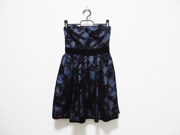 DREANG(ドレアング) ドレス サイズM レディース ダークネイビー×黒 ベロア