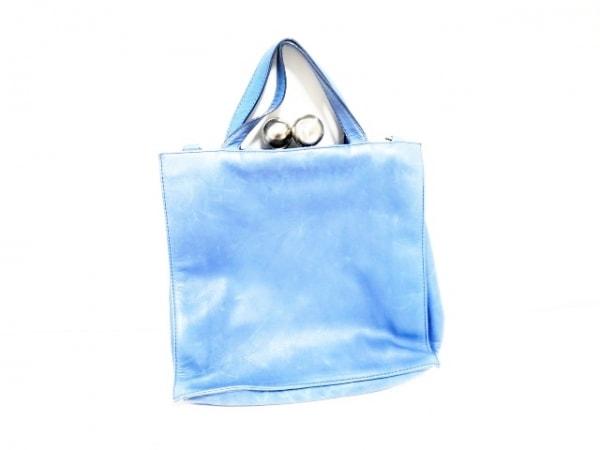 kawa-kawa(カワカワ) ハンドバッグ ブルー レザー