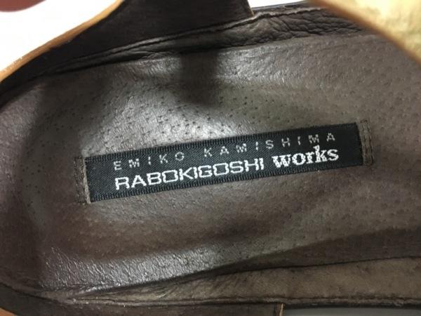 RABOKIGOSHI(ラボキゴシ) サンダル 24 レディース ゴールド レザー