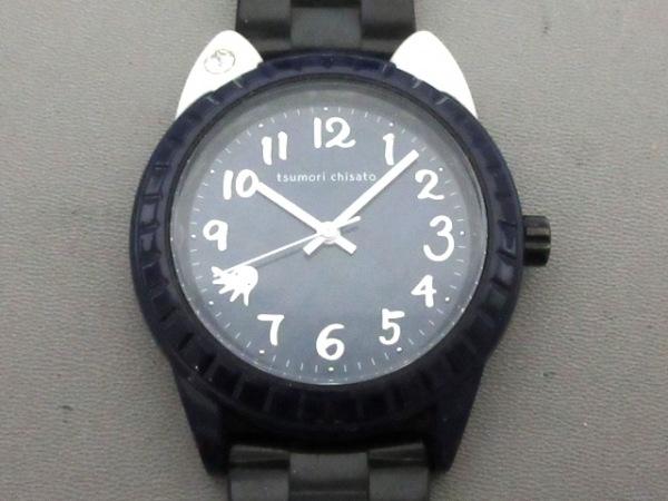 TSUMORI CHISATO(ツモリチサト) 腕時計美品  VJ21-D226 メンズ ラバーベルト ネイビー