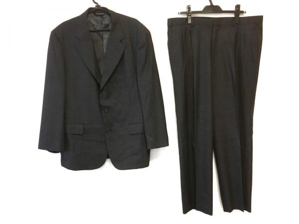 ブルックスブラザーズ シングルスーツ サイズ42 L メンズ ダークグレー×グレー
