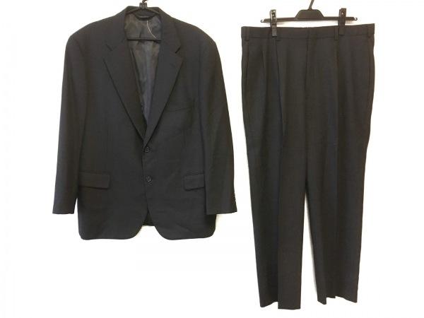 ブルックスブラザーズ シングルスーツ サイズ42 L メンズ ダークグレー ネーム刺繍
