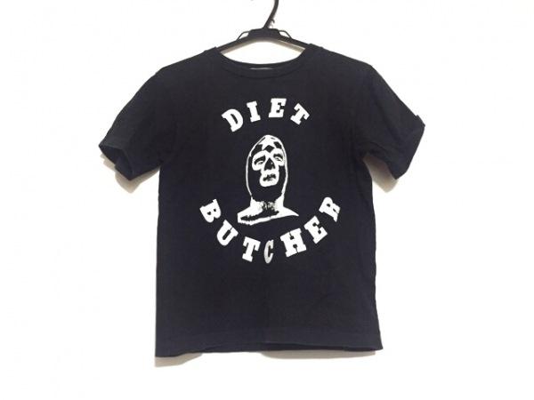 ダイエットブッチャースリムスキン 半袖Tシャツ メンズ 黒×白
