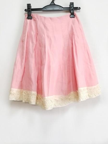 ブルーガールブルマリン スカート サイズ38(I) S レディース ピンク×アイボリー