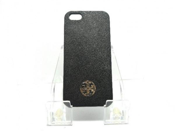 TORY BURCH(トリーバーチ) 携帯電話ケース 黒 レザー