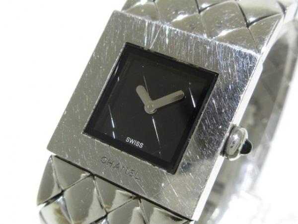 CHANEL(シャネル) 腕時計 マトラッセ H0009 レディース 黒