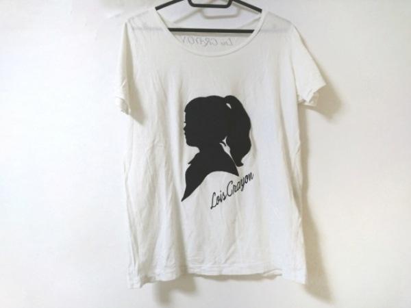 Lois CRAYON(ロイスクレヨン) 半袖Tシャツ サイズM レディース 白×黒