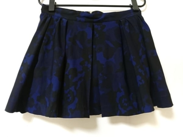 Lois CRAYON(ロイスクレヨン) スカート サイズM レディース美品  ダークネイビー×黒