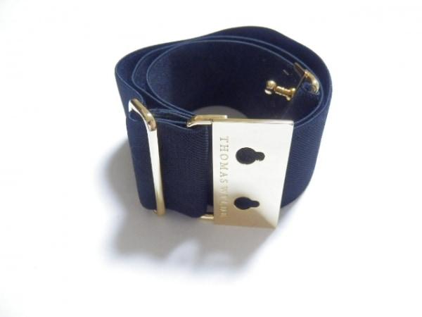 THOMAS WYLDE(トーマスワイルド) ベルト美品  黒×ゴールド 化学繊維×金属素材