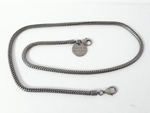 トーマスワイルド ベルト美品  ブラックシルバー チェーンベルト 金属素材