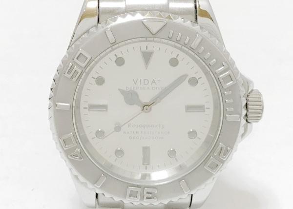VIDA+(ヴィーダプラス) 腕時計 - メンズ シルバー