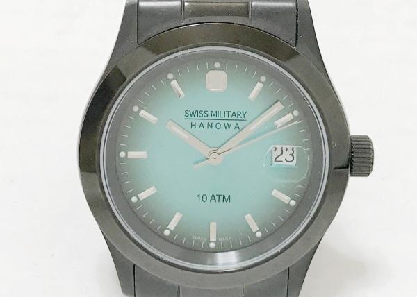 SWISS MILITARY(スイスミリタリー) 腕時計 HANOWA 6-5023 メンズ グリーン