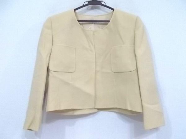 フォクシー ジャケット サイズ40 M レディース美品  ベージュ 春・秋物/肩パッド