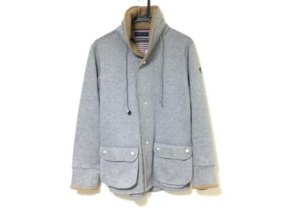 SHIPS(シップス) コート メンズ美品  ライトグレー×ライトブラウン 冬物