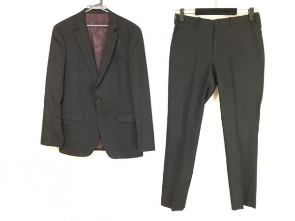 TAKEOKIKUCHI(タケオキクチ) シングルスーツ サイズ3 L メンズ 黒 ストライプ