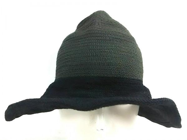 JACQUES LE CORRE(ジャックルコー) 帽子 ダークグリーン×黒 天然繊維