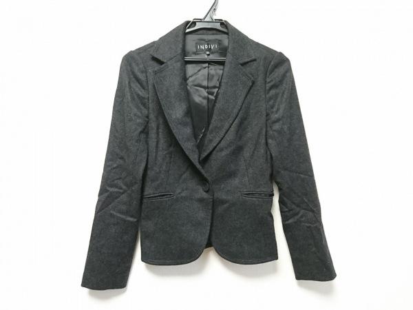 INDIVI(インディビ) ジャケット サイズ38 M レディース美品  ダークグレー