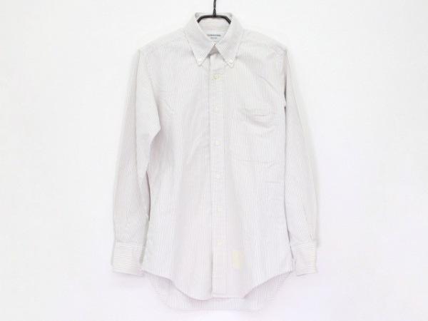 トムブラウン 長袖シャツ サイズ0 XS メンズ美品  白×グレー ストライプ