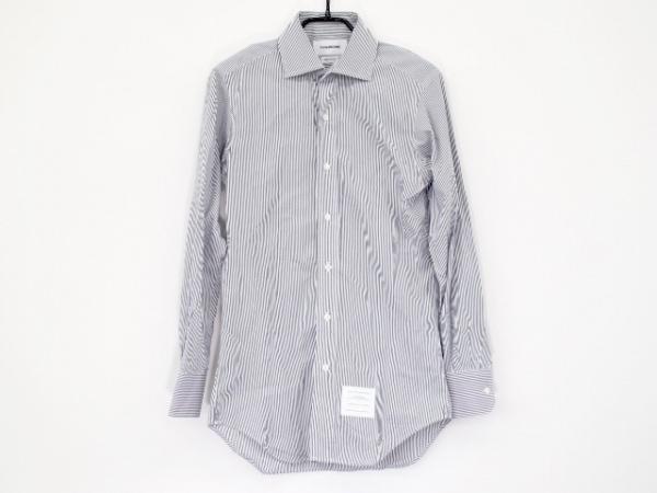トムブラウン 長袖シャツ サイズS メンズ美品  白×ダークグレー ストライプ
