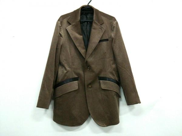 GIORGIOARMANI(ジョルジオアルマーニ) ジャケット サイズ48 M メンズ ブラウン×黒