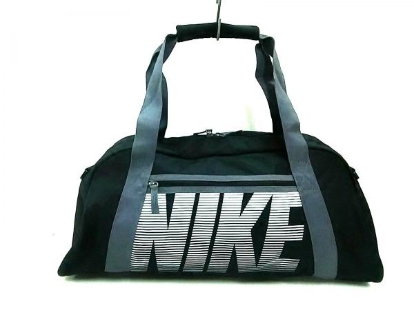 NIKE(ナイキ) ボストンバッグ 黒×グレー×白 ポリエステル