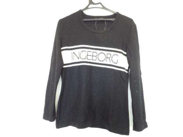 INGEBORG(インゲボルグ) 長袖セーター サイズ13 L レディース 黒×白