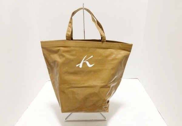 KITAMURA(キタムラ) トートバッグ ダークブラウン 折りたたみ コーティングキャンバス