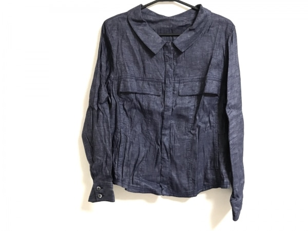 HIROKO BIS(ヒロコビス) ブルゾン サイズ15 L レディース美品  ネイビー 春・秋物