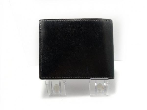 SOMES(ソメス) 2つ折り財布 黒 レザー
