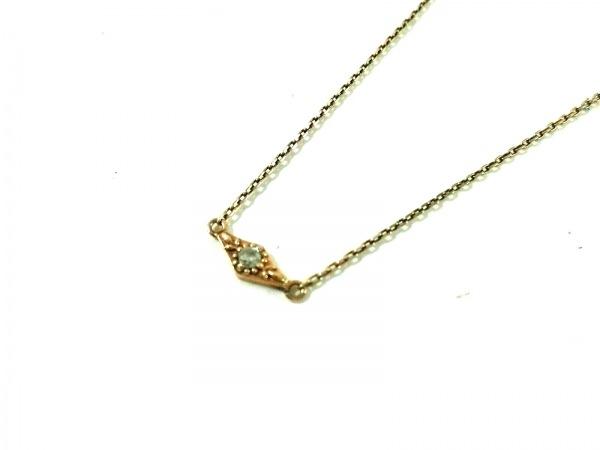 agete(アガット) ネックレス K10×ダイヤモンド 0.02カラット