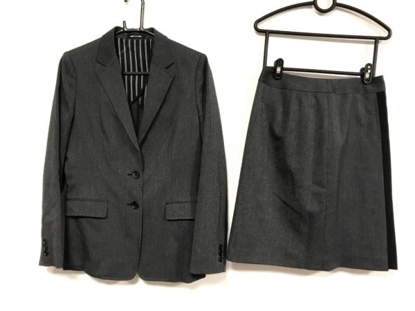 コムサデモード スカートスーツ サイズ11 M レディース美品  ダークグレー