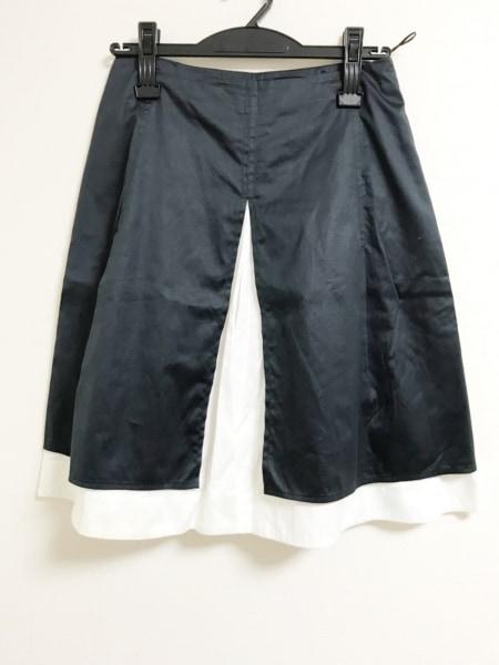 JILSANDER(ジルサンダー) スカート サイズ34 XS レディース 黒×アイボリー