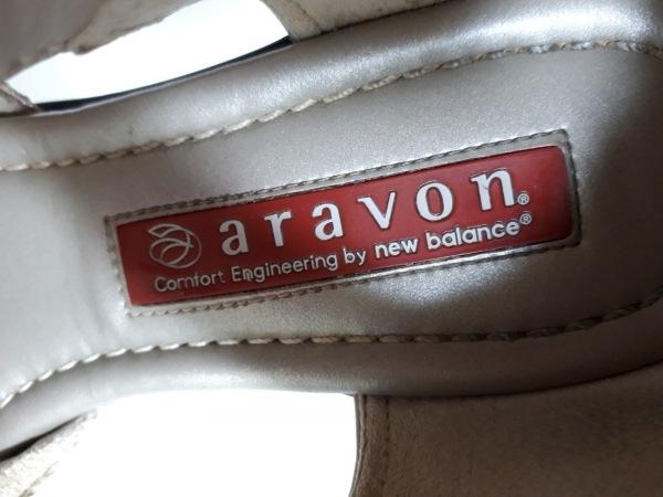 aravon(アラヴォン) パンプス 22.5 レディース美品  ライトグレー レザー×化学繊維
