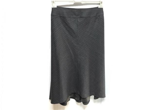 ヨシエイナバ ロングスカート サイズ3 L レディース美品  黒×ベージュ La Periode