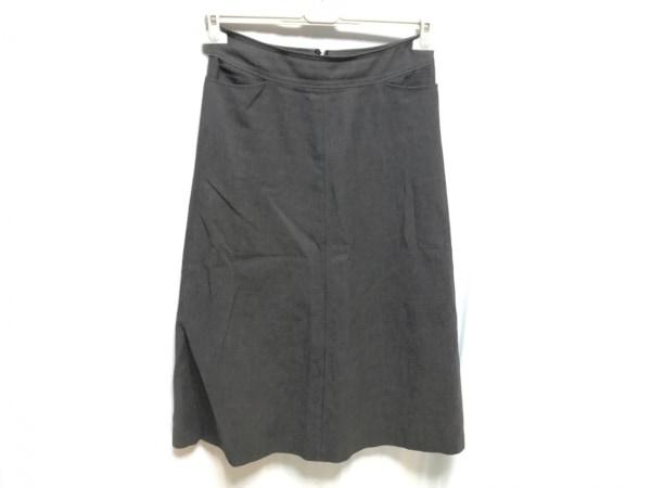 ヨシエイナバ スカート サイズ9 M レディース美品  ダークグレー×グレー