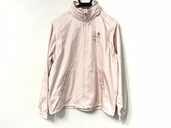 Munsingwear(マンシングウェア) ブルゾン サイズM レディース美品  ピンク×マルチ
