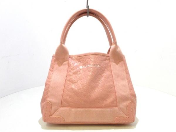 BALENCIAGA(バレンシアガ) トートバッグ ネイビーカバXS 390346 ピンク ミニサイズ