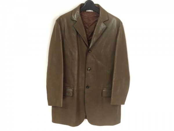 OPIFIX(オピフィックス) コート サイズ46 XL メンズ ブラウン 冬物/フェイクレザー