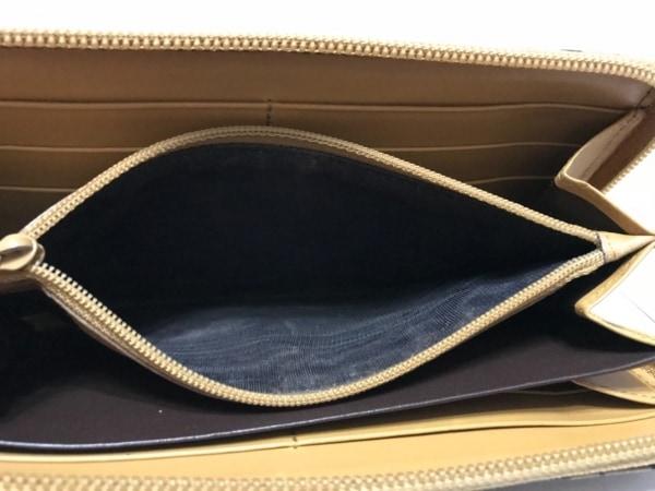 GUCCI(グッチ) 長財布 - - 黒×ベージュ ラウンドファスナー ナイロン