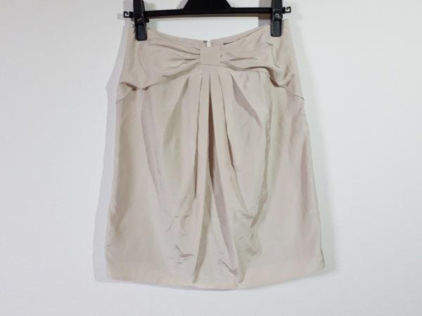 JUSGLITTY(ジャスグリッティー) スカート サイズ2 M レディース美品  ベージュ リボン