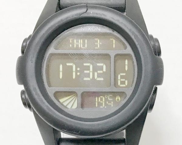 NIXON(ニクソン) 腕時計 THE UNIT - メンズ ラバーベルト 黒