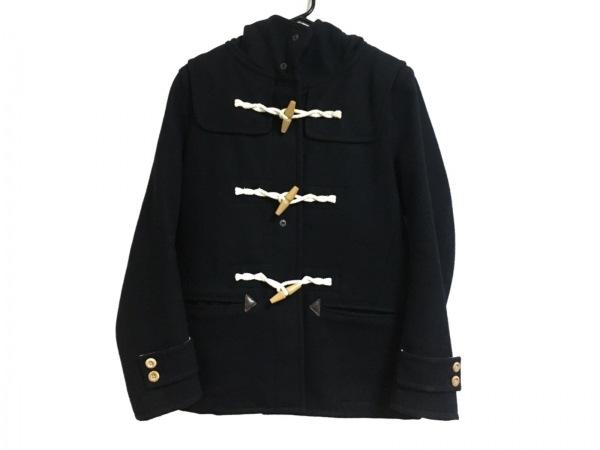 ティーケータケオキクチ ダッフルコート サイズ3 L レディース 黒×アイボリー 冬物
