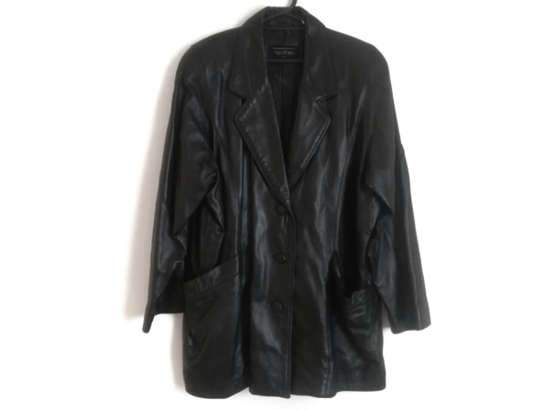 Ago D'oro(アゴドーロ) コート サイズ11 メンズ 黒 ラムレザー/冬物