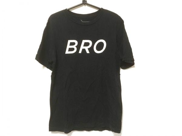 サタデーズ サーフ ニューヨーク 半袖Tシャツ サイズM メンズ 黒×アイボリー