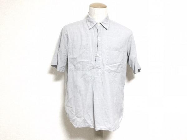 MHL.(マーガレットハウエル) 半袖シャツ サイズL メンズ美品  ライトブルー