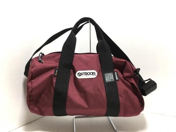 OUTDOOR(アウトドア) ハンドバッグ ボルドー×黒 ナイロン